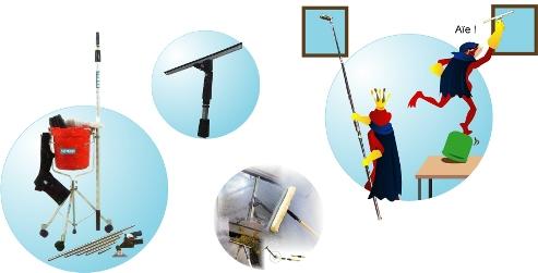 nettoyer des vitres en hauteur chauffage air puls. Black Bedroom Furniture Sets. Home Design Ideas